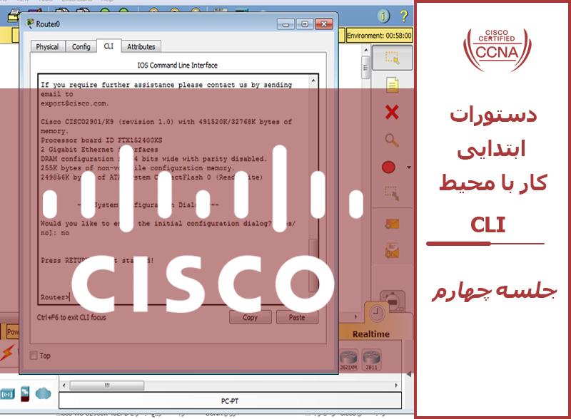 دستورات ابتدایی کار با محیط CLI